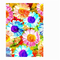 Colorful Daisy Garden Small Garden Flag (two Sides) by DanaeStudio