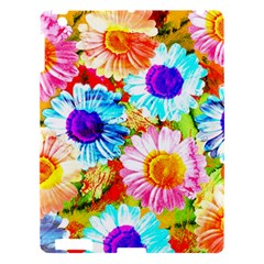 Colorful Daisy Garden Apple Ipad 3/4 Hardshell Case by DanaeStudio