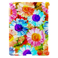 Colorful Daisy Garden Apple Ipad 3/4 Hardshell Case (compatible With Smart Cover) by DanaeStudio