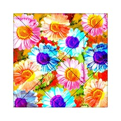 Colorful Daisy Garden Acrylic Tangram Puzzle (6  X 6 ) by DanaeStudio