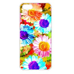 Colorful Daisy Garden Apple Iphone 5 Seamless Case (white) by DanaeStudio