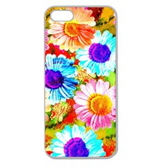 Colorful Daisy Garden Apple Seamless Iphone 5 Case (clear) by DanaeStudio