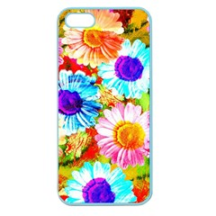 Colorful Daisy Garden Apple Seamless Iphone 5 Case (color) by DanaeStudio