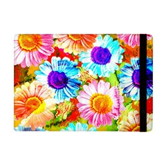 Colorful Daisy Garden Apple Ipad Mini Flip Case by DanaeStudio