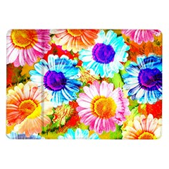 Colorful Daisy Garden Samsung Galaxy Tab 10 1  P7500 Flip Case by DanaeStudio