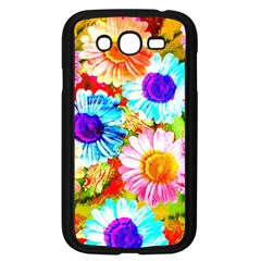 Colorful Daisy Garden Samsung Galaxy Grand Duos I9082 Case (black) by DanaeStudio