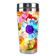 Colorful Daisy Garden Stainless Steel Travel Tumblers
