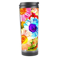 Colorful Daisy Garden Travel Tumbler by DanaeStudio