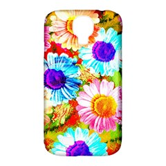 Colorful Daisy Garden Samsung Galaxy S4 Classic Hardshell Case (pc+silicone) by DanaeStudio