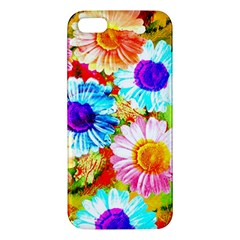 Colorful Daisy Garden Iphone 5s/ Se Premium Hardshell Case by DanaeStudio