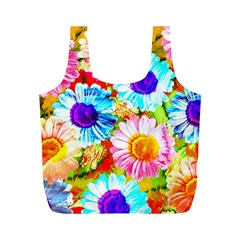 Colorful Daisy Garden Full Print Recycle Bags (m)  by DanaeStudio