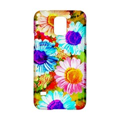 Colorful Daisy Garden Samsung Galaxy S5 Hardshell Case  by DanaeStudio