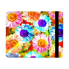 Colorful Daisy Garden Samsung Galaxy Tab Pro 8 4  Flip Case by DanaeStudio