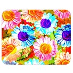 Colorful Daisy Garden Double Sided Flano Blanket (Medium)  60 x50 Blanket Front