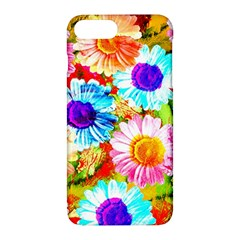 Colorful Daisy Garden Apple Iphone 7 Plus Hardshell Case by DanaeStudio