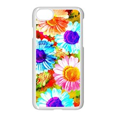Colorful Daisy Garden Apple Iphone 7 Seamless Case (white) by DanaeStudio