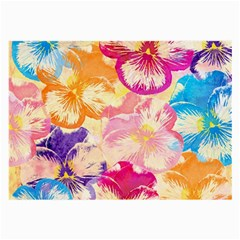 Colorful Pansies Field Large Glasses Cloth (2 Side) by DanaeStudio