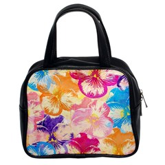 Colorful Pansies Field Classic Handbags (2 Sides) by DanaeStudio