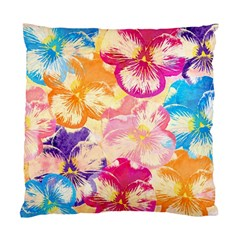 Colorful Pansies Field Standard Cushion Case (two Sides) by DanaeStudio