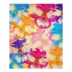 Colorful Pansies Field Shower Curtain 60  X 72  (medium)