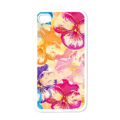Colorful Pansies Field Apple Iphone 4 Case (white)