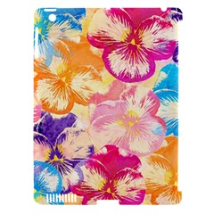 Colorful Pansies Field Apple Ipad 3/4 Hardshell Case (compatible With Smart Cover) by DanaeStudio