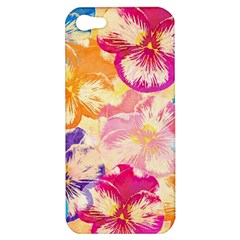 Colorful Pansies Field Apple Iphone 5 Hardshell Case