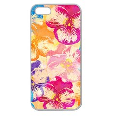 Colorful Pansies Field Apple Seamless Iphone 5 Case (clear)