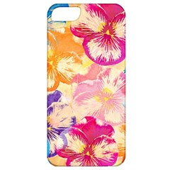 Colorful Pansies Field Apple Iphone 5 Classic Hardshell Case