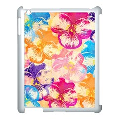 Colorful Pansies Field Apple Ipad 3/4 Case (white)