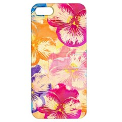 Colorful Pansies Field Apple Iphone 5 Hardshell Case With Stand