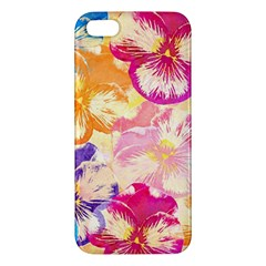 Colorful Pansies Field Apple Iphone 5 Premium Hardshell Case