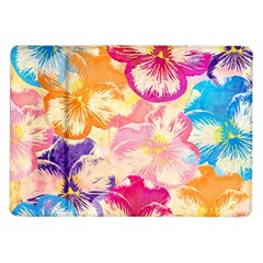 Colorful Pansies Field Samsung Galaxy Tab 10 1  P7500 Flip Case by DanaeStudio