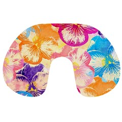 Colorful Pansies Field Travel Neck Pillows