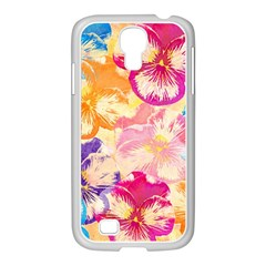 Colorful Pansies Field Samsung Galaxy S4 I9500/ I9505 Case (white)