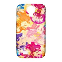 Colorful Pansies Field Samsung Galaxy S4 Classic Hardshell Case (pc+silicone) by DanaeStudio