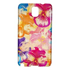 Colorful Pansies Field Samsung Galaxy Note 3 N9005 Hardshell Case