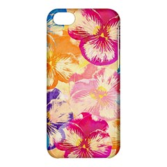 Colorful Pansies Field Apple Iphone 5c Hardshell Case