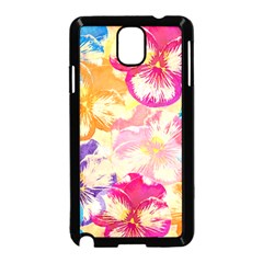 Colorful Pansies Field Samsung Galaxy Note 3 Neo Hardshell Case (black) by DanaeStudio
