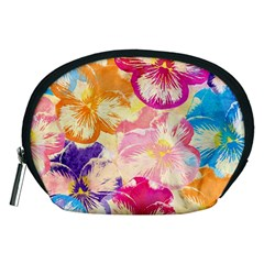Colorful Pansies Field Accessory Pouches (medium)