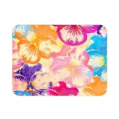 Colorful Pansies Field Double Sided Flano Blanket (mini)  by DanaeStudio