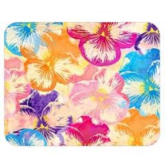 Colorful Pansies Field Double Sided Flano Blanket (medium)  by DanaeStudio
