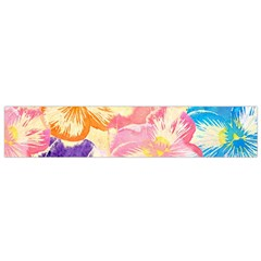 Colorful Pansies Field Flano Scarf (small)