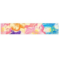 Colorful Pansies Field Flano Scarf (large)
