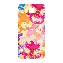 Colorful Pansies Field Samsung Galaxy Alpha Hardshell Back Case by DanaeStudio