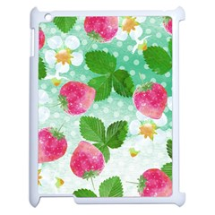 Cute Strawberries Pattern Apple Ipad 2 Case (white)
