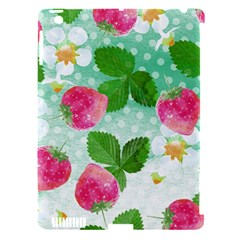 Cute Strawberries Pattern Apple Ipad 3/4 Hardshell Case (compatible With Smart Cover)