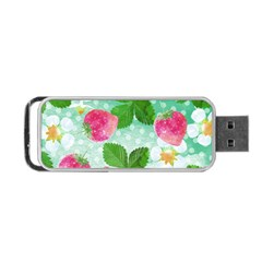 Cute Strawberries Pattern Portable Usb Flash (two Sides) by DanaeStudio