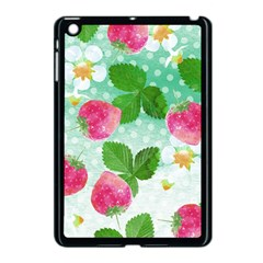 Cute Strawberries Pattern Apple Ipad Mini Case (black)