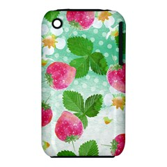 Cute Strawberries Pattern Iphone 3s/3gs